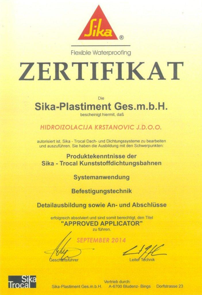 certifikat_sika HIDROIZOLACIJA KRSTANOVIC